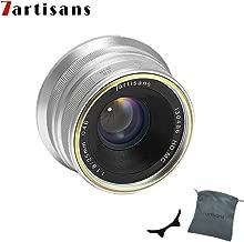 7artisans 25mm F1.8 APS-C Manual Focus Lens for Sony Emount Cameras Like A7 A7II A7R A7RII A7S A7SII A6500 A6300 A6000 A5100 A5000 EX-3 NEX-3N NEX-3R NEX-F3K NEX-5 NEX-5N (Silver)