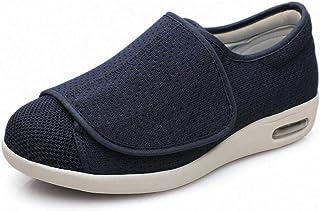 B/H Pied enflé Pantoufles,Velcro élargit Les Chaussures de gonflement du Pied, Chaussures de Pied diabétique réglables-44_...
