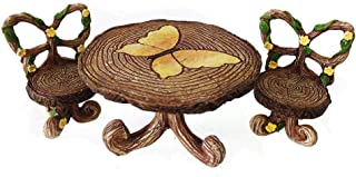 Fairy Garden Supply - Fairy Furniture - Butterfly Table & Chairs Set for Miniature Fairy Gardens