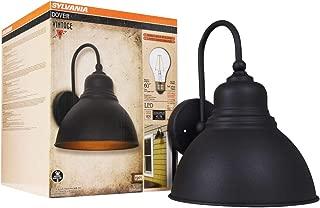 Sylvania 60061 Dover Sconce Light Vintage Fixture, LED, Flush Mount, Dimmable Bulb Included, Antique Black