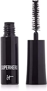 It Cosmetics Superhero Elastic Stretch Volume Mascara in Black 0.10 oz (Travel Size)