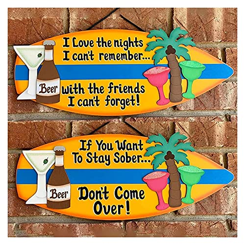 Decoración de pared de tabla de surf de madera, Tablas de surf para decorar colgantes de pared para los amantes del surf, decoración de jardín, decoración del hogar de granja, Banner de telón de fondo