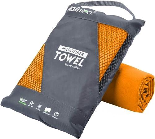 Wolfyok Microfiber Bath Towels,2 Pcs Super Absorbent/&Quick Dry,Top Seal Seller
