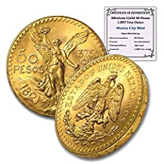 You will receive one coin per purchase between the listed dates Purity: .900 Actual Gold Weight: 1.2057 Denomination: 50 Pesos We are unable to accommodate specific year request