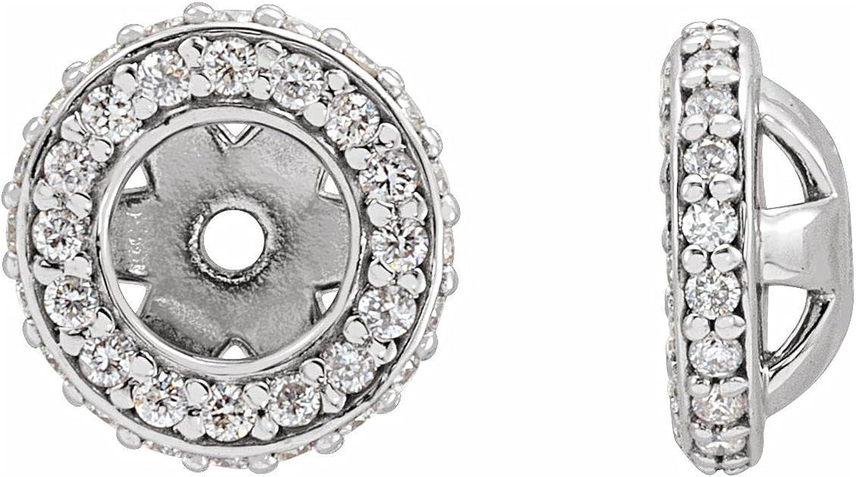 14K White Gold 1/5 CTW Diamond Jackets Earring for Women