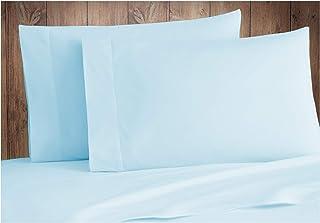 King Size Pillow Covers Tissaj - 500-Thread-Count Organic Cotton Pillowcases Set – 500TC King / California King Size Ice B...
