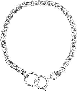 Beaucoup Designs Sterling Silver Plated Belcher Chain Charm Holder Bracelet (BCSCH75)