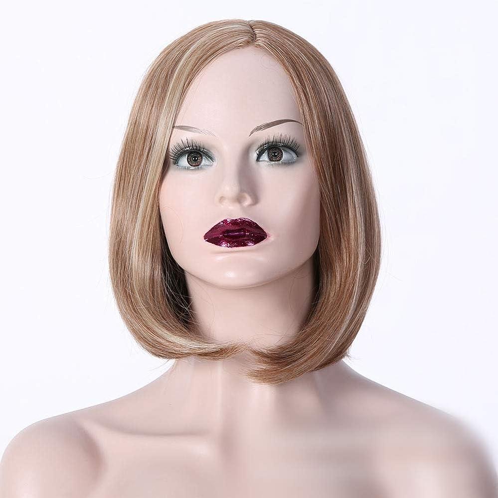 花大学院貧しいWASAIO レディースショートカーリーウィッグブロンドショート細いウェーブのかかった髪かつら耐熱性 (色 : Photo color)