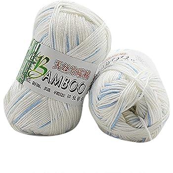 Winkey Ovillo de hilo, 100 % de algodón cálido de bambú natural, para ganchillo. Ovillo de 50 g, para mantas o jerséis Z: Amazon.es: Hogar