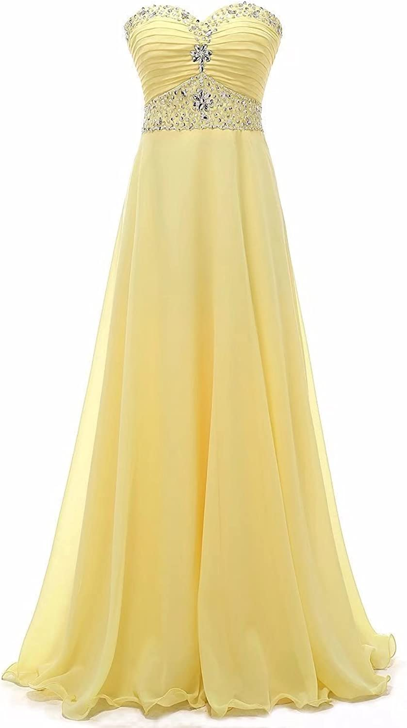 Loffy dresses Women's Bridesmaid Dresses Long Sweetheart Prom Gowns