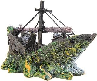 Namgiy Adorno para decoración de acuario, diseño de barco pirata, paisaje para el hogar