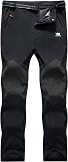 Los Pantalones al Aire Libre de los Hombres Que Son de Fleece Impermeable de c¨¢scara Blanda