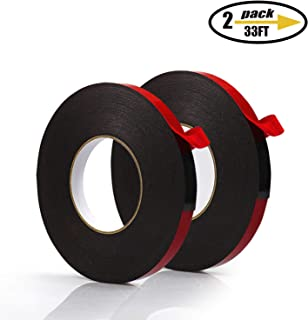 PE Foam Double-Sided Adhesive Tape -Outdoor and Indoor Super Strong Foam Seal Strip for Automotive Mounting,Weatherproof Decorative and Trim,Car Trim Strip,Photo Frame (Wide 1 1/5 in Long 66 Ft)