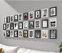 GJNVBDZSF Conjunto de 30 molduras para fotos, moldura de galeria de parede, combinação branca para decoração de sala de es...