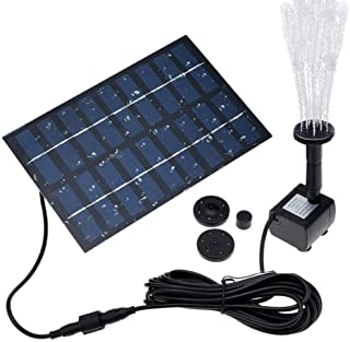 COSSCCI 1.8W Solar Fountain Water Pump for Bird Bath Solar Panel Kit Outdoor Fountain for Small Pond, Patio Garden (Square)