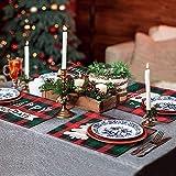 MTaoyac Weihnachten Deko, Weihnachts-Platzsets, Weihnachts-Tischsets und Untersetzer, rutschfest ,hitzebeständig, wasserdicht, Schmutzabweisend und Waschbare.(6er Set) - 5