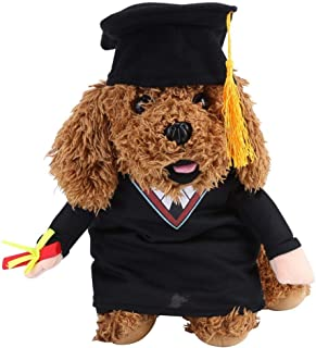Funny Bachelor Dog Cat Pet Clothes Arms GOG Cat Costumes with Hat for Daily Halloween Christmas Party (S)
