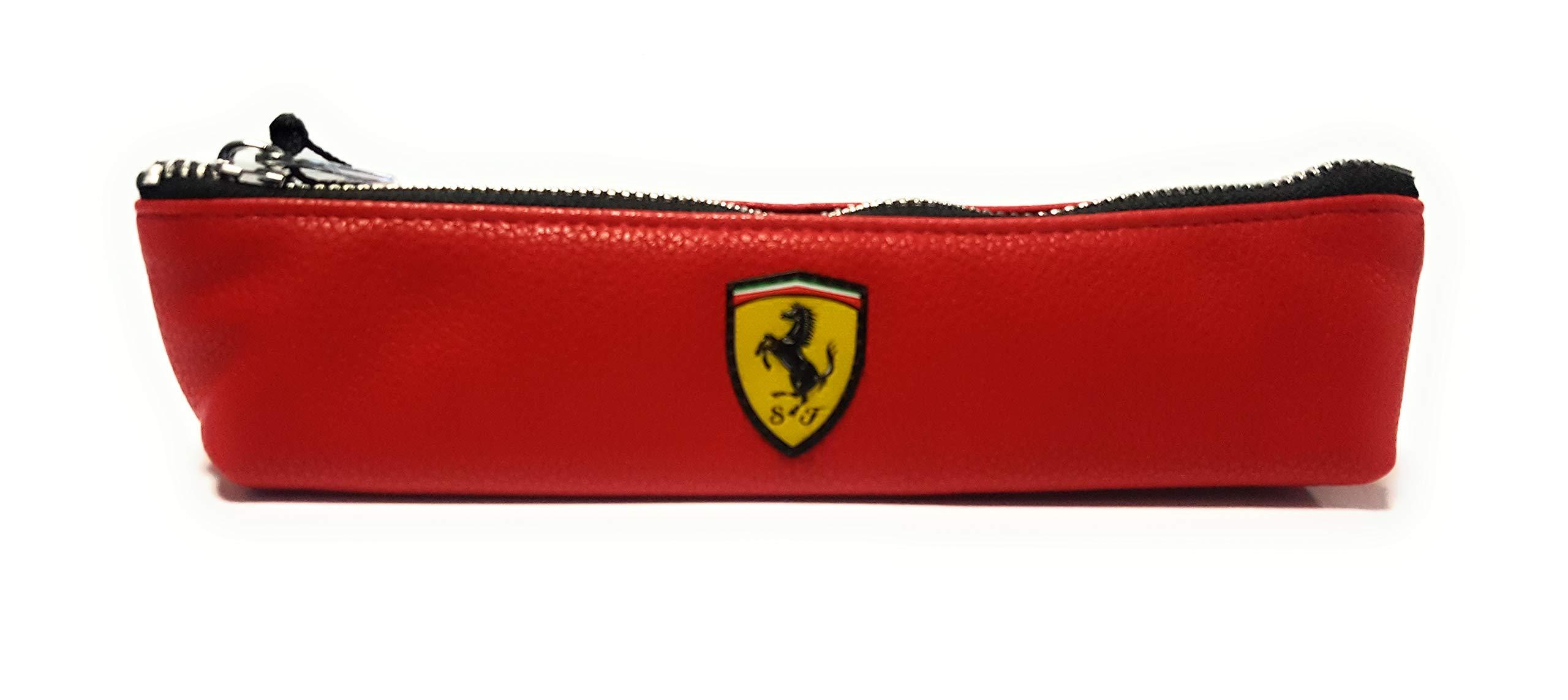 Estuche Ferrari Rojo Piel sintética: Amazon.es: Oficina y papelería