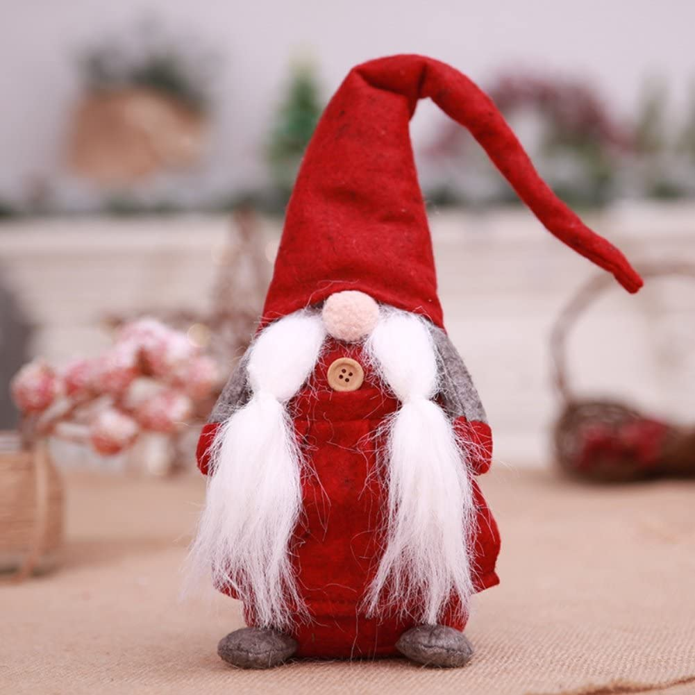 Ochine 17 inches Faceless Christmas Santa Doll as Christmas Decorations for Home Long Hat Dolls Handmade Kids Plush Toy Table Decor and Window Display
