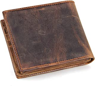 Mens Wallet RFID Blocking Bifold Genuine Leather Wallets for Men Slim Vintage Travel Wallet
