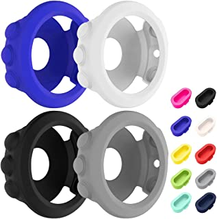4 Pcs Silicone Watch case Cover & 10 Pcs Anti-Dust Plugs for Garmin Fenix 5X, AFUNTA Soft Silicone Protective case and Cha...
