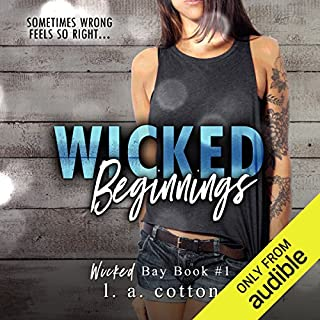Wicked Beginnings                   Written by:                                                                                                                                 L. A. Cotton                               Narrated by:                                                                                                                                 Luiza Westwood                      Length: 8 hrs and 19 mins     Not rated yet     Overall 0.0