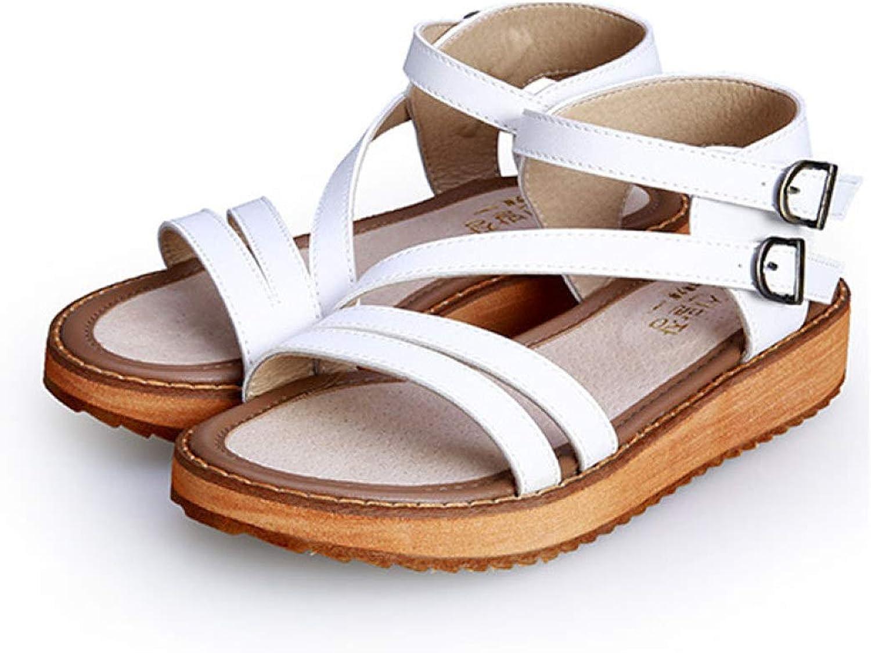 Sandaler av Hoxekle kvinna's kvinna's kvinna's Roma Strap Platform Lady Wedge Low Heel Casaul sommar Antislip skor  med billigt pris för att få bästa varumärke