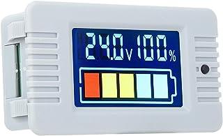 Deryang Voltímetro digital, indicador de capacidade de bateria LCD de 0 ~ 100 V, para sistemas de teste de bateria, invers...
