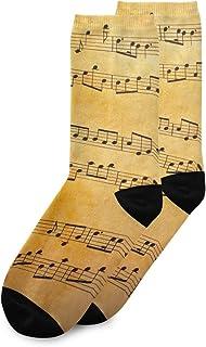 CaTaKu Chaussette de musique vintage douce et respirante pour homme et femme.