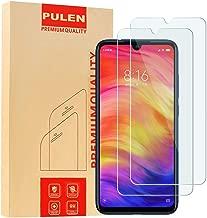 [2-Pack] PULEN for Xiaomi Redmi 7,Redmi Note 7,Xiaomi Redmi Note 8 Screen Protector,HD Clear Scratch Resistance Bubble Free 9H Hardness Tempered Glass