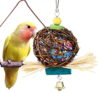 MAIYUAN Bird Knots Block Chewing Toys Multicolored Wooden Blocks for Parrot Parakeet Macaws African Greys Conures