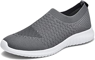 Men's Casual Walking Shoes Knit Running Slip-on Sneakers