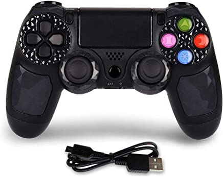 $29 Get PS4 Controller Wireless Bluetooth Gaming Controller DS4 Double Vibration Gaming Joystick with Touch Pad High-Precison Joystick for Playstation 4 / PS4 Pro/Slim