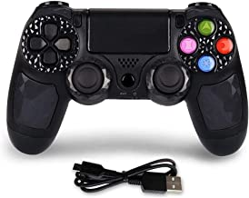PS4 Controller Wireless Bluetooth Gamepad Controller DS4 Dual Shock Gaming Joystick with Touch Pad High-Precison Controller for Playstation 4 / PS4 Pro/Slim (Black)