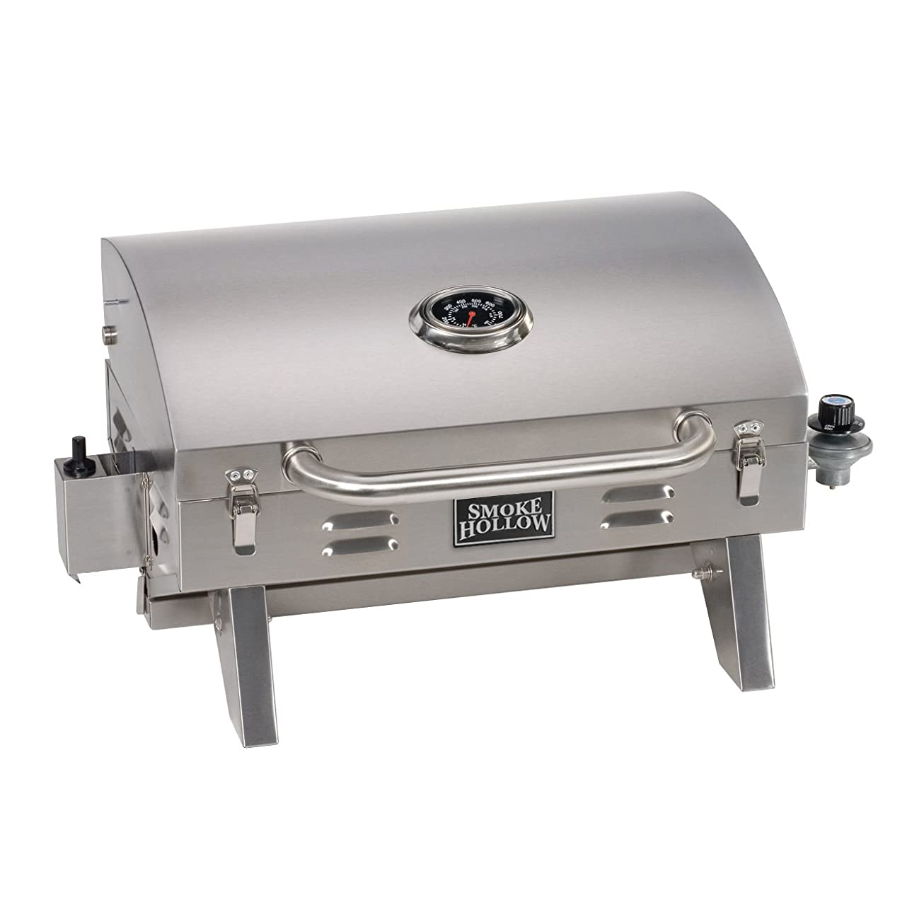 Smoke Hollow 205 Stainless Steel TableTop Propane Gas Grill, Perfect for tailgating,camping or any outdoor event upklxqrjvdjh9