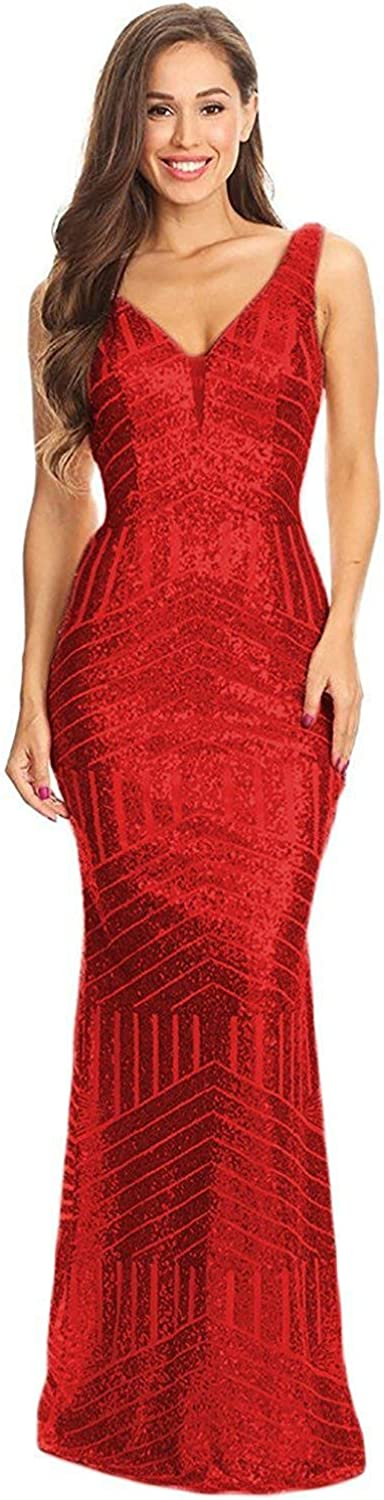 Aurora Bridal Womens Mermaid Sequins Prom Dresses Long Evening Formal Party Gowns A097