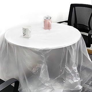 セーフラン(SAFERUN) 使い捨て養生ポリシート 50枚 白(半透明) 200x200cm PE 厚さ0.006mm極薄タイプ 気軽に使えるビニールシート DIY時等の防汚や実験室などに J2373