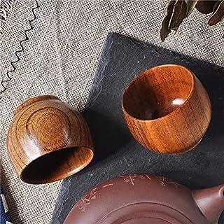 سيزو- فناجين واكواب القهوة - فنجان خشبي على الطراز الياباني ابداعي من خشب العناب، فنجان شاي، فنجان قهوة خشبي، فنجان وشرب، ...