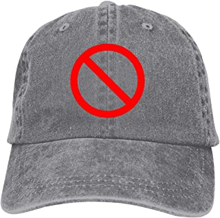 No Sign Unisex Baseball Cap Adjustable Classic Baseball Hat Cotton Dad Denim Caps