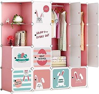 Coffee Table FHW Armoire Enfant Simple Plaque économique Moderne en Plastique Assemblée Petite Armoire Chambre penderie (C...