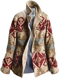 معطف SportsXX نسائي بياقة واقفة قصير مطبوع مزين بالزهور مناسب بزر واحد
