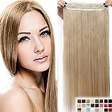 30' Extensions Rajout Cheveux Clips Monobande - Extension a Clips 76CM(30 pouces) - Blond Cendré