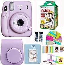Fujifilm Instax Mini 11 Lilac Purple Camera with Fuji Instant Film Twin Pack (20 Pictures) + Purple Case, Album, Stickers, and More Accessories Bundle