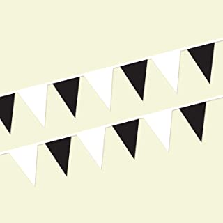 Black and White Heavy Duty String Pennants (60 ft.)