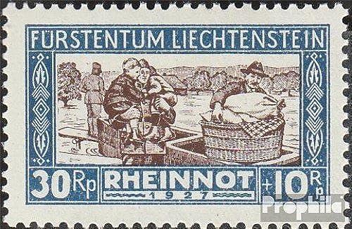 Prophila Collection Liechtenstein 81 1928 Hochwassergesch gte (Briefürken für Sammler)