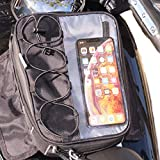 Moto Tank Bag -Magnetic or strap mount - Fits all iPhones, iPhone 10, iPhone 11 Max Pro, iPhone X, 8 | 8 Plus, 7 | 7 Plus, 6s Plus | Galaxy, S10, S9, S8, Holds Phones Up to 3.5' Wide.