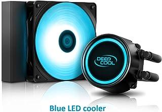DEEP COOL GAMMAXX L120T Refrigeración Líquida para CPU, LED Azul, 120mm PWM Ventilador, Equipada Sistema de Anti-Fugas, Compatible con AM4, Garantía de 3 Años