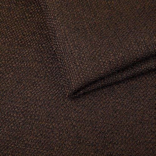 Pure Textilien Webstoff Strukturstoff Portland - Möbelstoff Polsterstoff Uni Meterware - dunkel braun 27