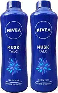 Nivea Musk Talc Skin Powder 2 Unit of 400 Grams Each (2 x 400 g)