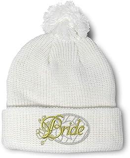WINTER BEANIE WOMEN Custom Embroidered Toque \u2013 Beanie For Bridesmaid Winter Wedding Cap Bride Monogram Toque Cute Bride Gifts
